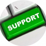 Support key on a computer keyboard